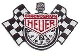 Heuer Chronograph Patch Aufnäher Bügelbild Motorsport Racing Team