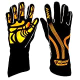 Speed Karthandschuhe Adelaide G-1 schwarz/Neonorange - Karting Gloves (8)