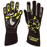 Speed Racewear - Motorsport Handschuhe - Karthandschuhe Melbourne - Schwarz/neongelb (8)